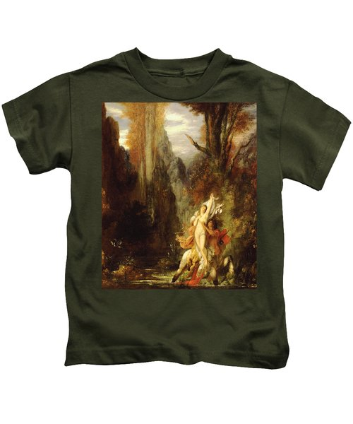 Dejanira  Autumn Kids T-Shirt by Gustave Moreau