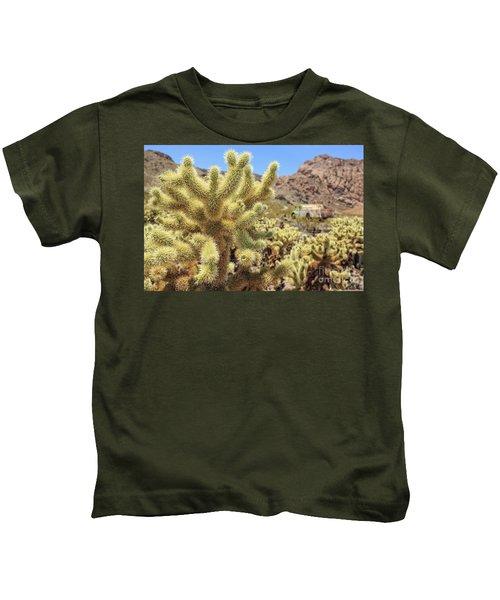 Desert Cactus Teddy Bear Cholla Eldorado Canyon Nevada Kids T-Shirt