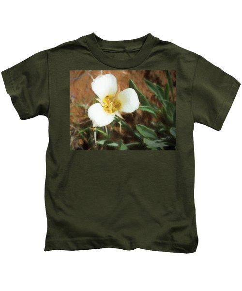Desert Mariposa Lily Kids T-Shirt