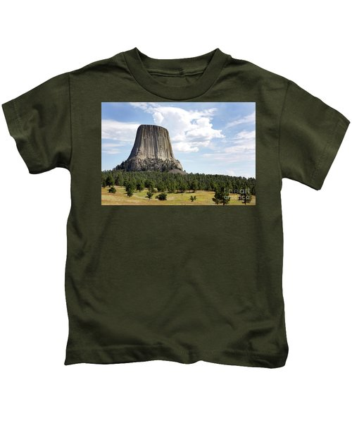 Devils Tower National Monument Kids T-Shirt
