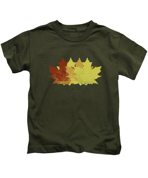 Diagonal Leaf Pattern Kids T-Shirt