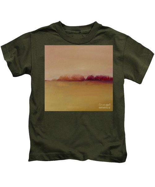 Distant Red Trees Kids T-Shirt