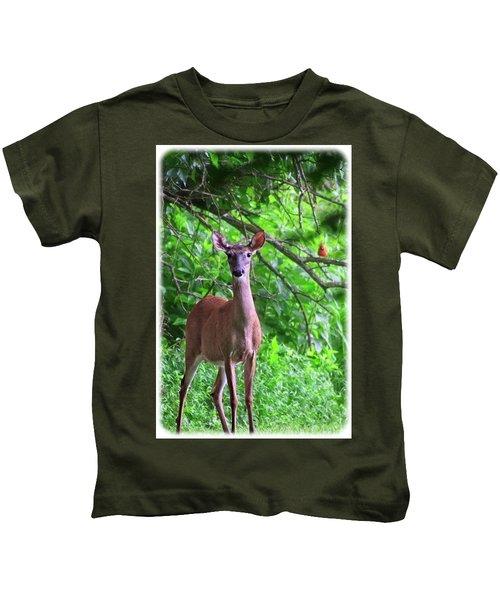 Doe And Cardinal Kids T-Shirt