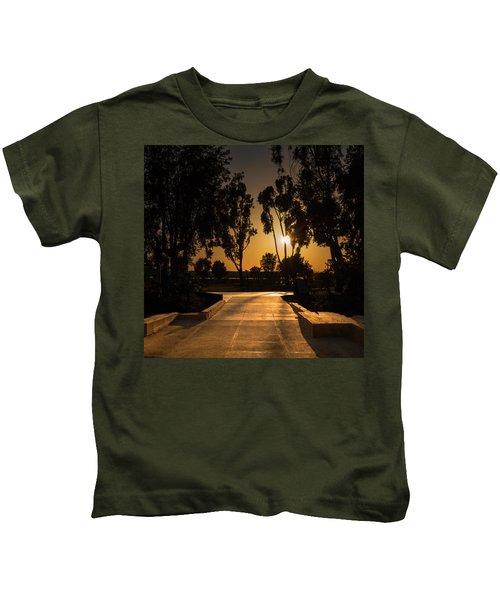 Dominguez Hills Sunset Kids T-Shirt