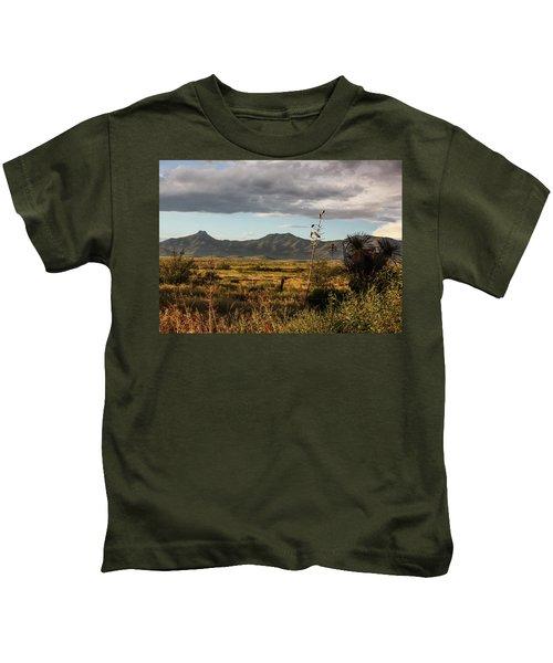 Dos Cabezas Grasslands At Dusk Kids T-Shirt