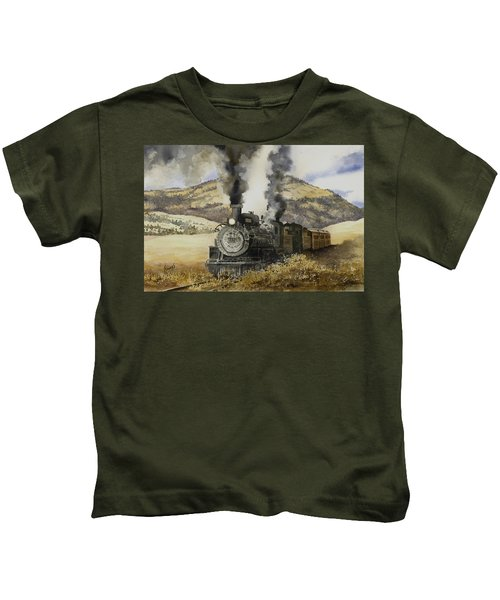 Double Teamin To Cumbres Pass Kids T-Shirt