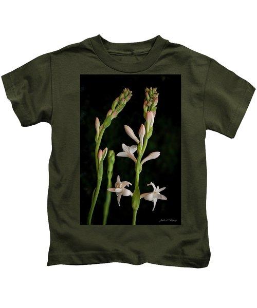 Double Tuberose In Bloom #2 Kids T-Shirt
