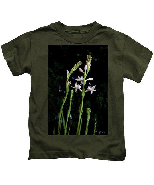Double Tuberose In Bloom Kids T-Shirt