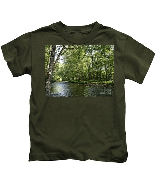 Down Beside Where The Waters Flow Kids T-Shirt