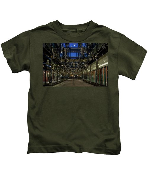Downtown Christmas Decorations - Washington Kids T-Shirt