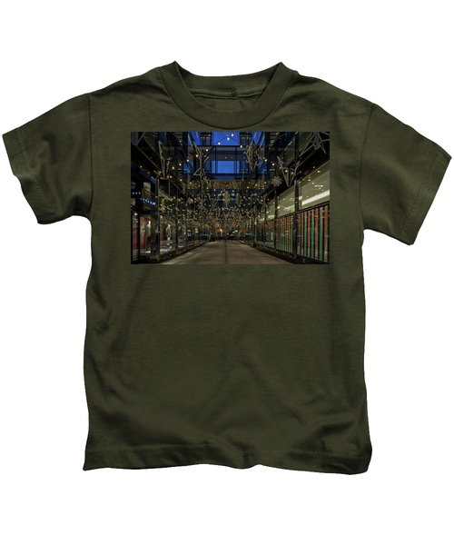 Downtown Christmas Decorations - Washington Kids T-Shirt