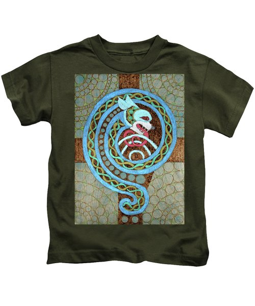 Dragon And The Circles Kids T-Shirt