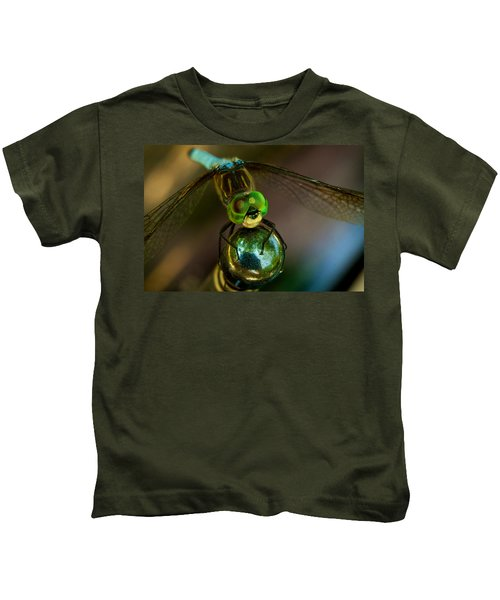 Kids T-Shirt featuring the photograph Dragonfly by William Jobes