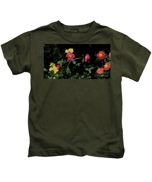 Dramatic Colorful Flowers Kids T-Shirt