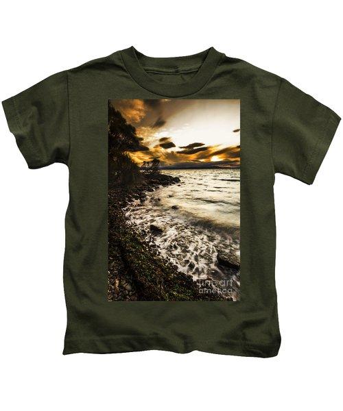 Dramatic Dark Coast Kids T-Shirt
