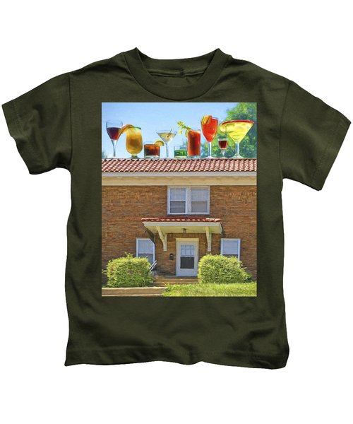 Drinks On The House Kids T-Shirt by Nikolyn McDonald