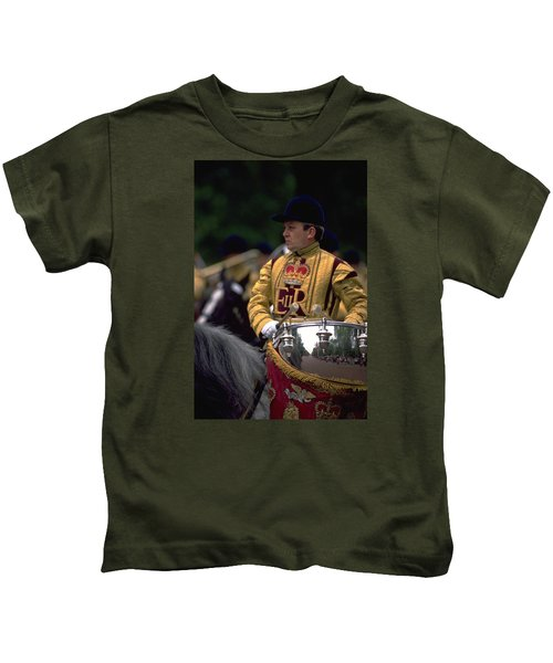 Drum Horse At Trooping The Colour Kids T-Shirt