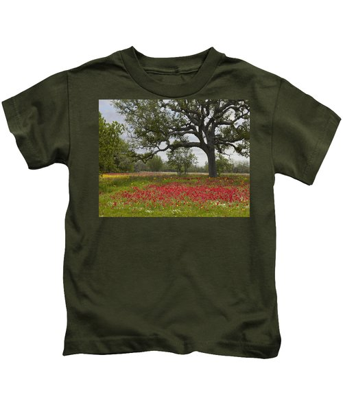Drummonds Phlox Meadow Near Leming Texas Kids T-Shirt