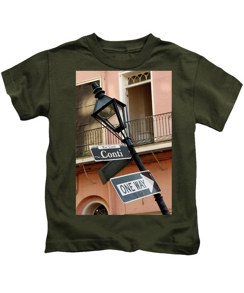 Drunk Street Sign French Quarter Kids T-Shirt