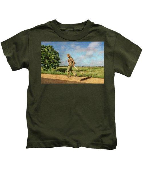 Drying Rice Kids T-Shirt