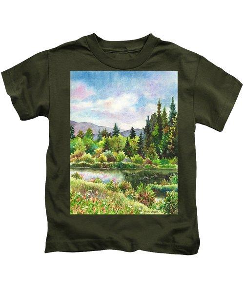 Duck Pond At Caribou Ranch Kids T-Shirt