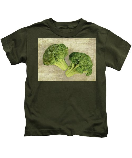 Due Broccoletti Kids T-Shirt by Guido Borelli