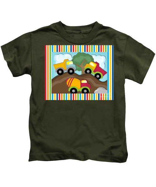 Dump Trucks Kids T-Shirt