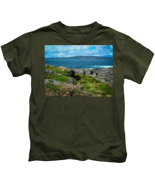 Kids T-Shirt featuring the photograph Dunmanus Bay Seascape by James Truett