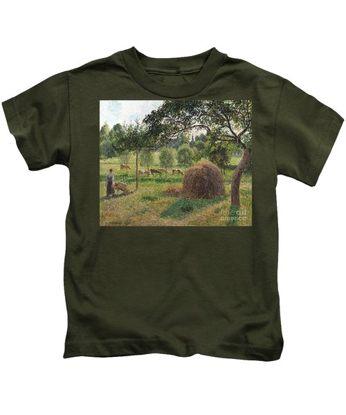 Dusk At Eragny Kids T-Shirt