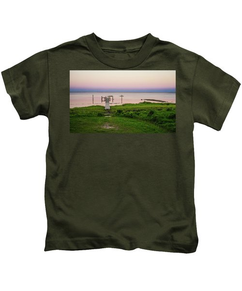 Dusk At Battle Point, Accomac, Virginia Kids T-Shirt