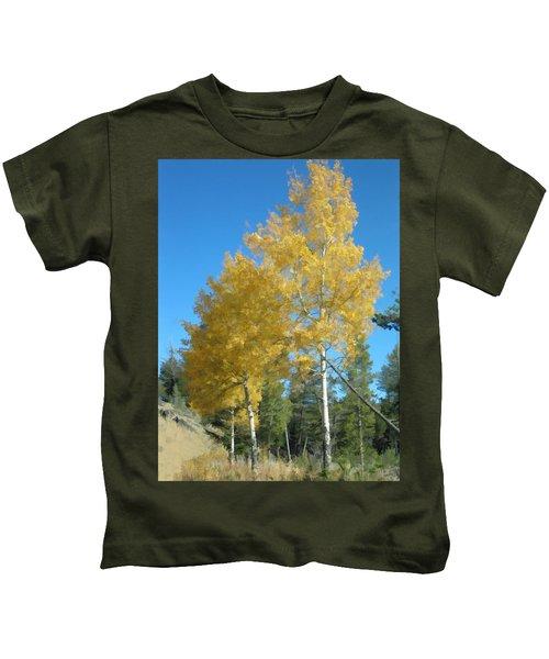 Early Autumn Aspens Kids T-Shirt