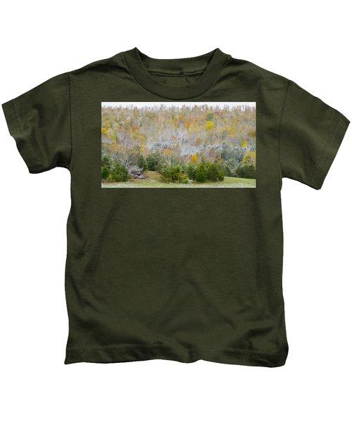 Early Snow Fall Kids T-Shirt