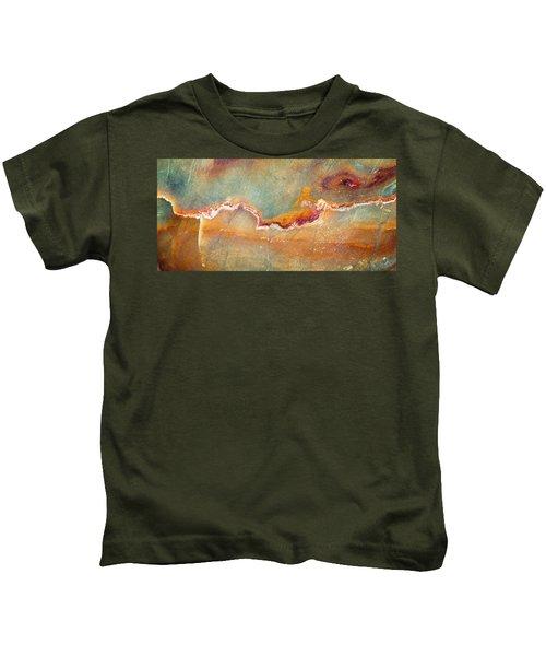 Earth Portrait 001-98 Kids T-Shirt