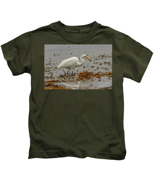 Eastern Great Egret 10 Kids T-Shirt