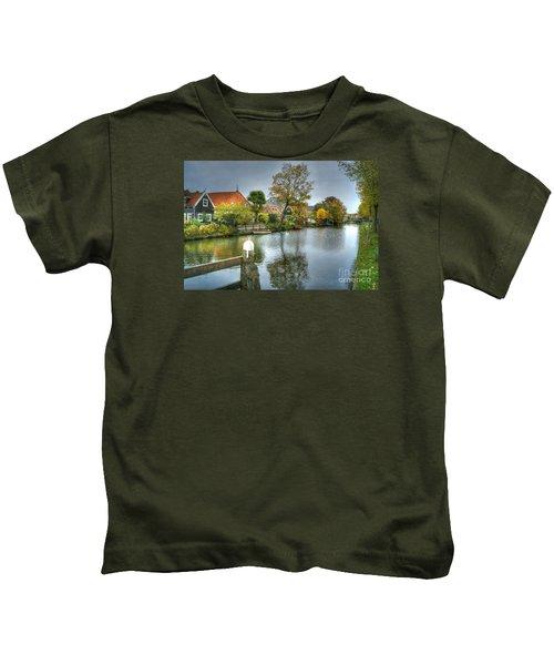 Edam Waterway In Holland Kids T-Shirt