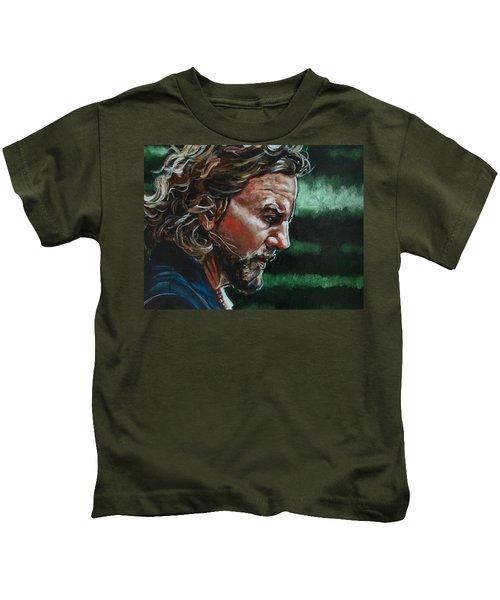 Eddie Vedder Kids T-Shirt by Joel Tesch