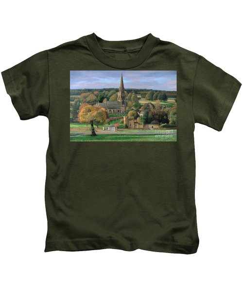 Edensor - Chatsworth Park - Derbyshire Kids T-Shirt