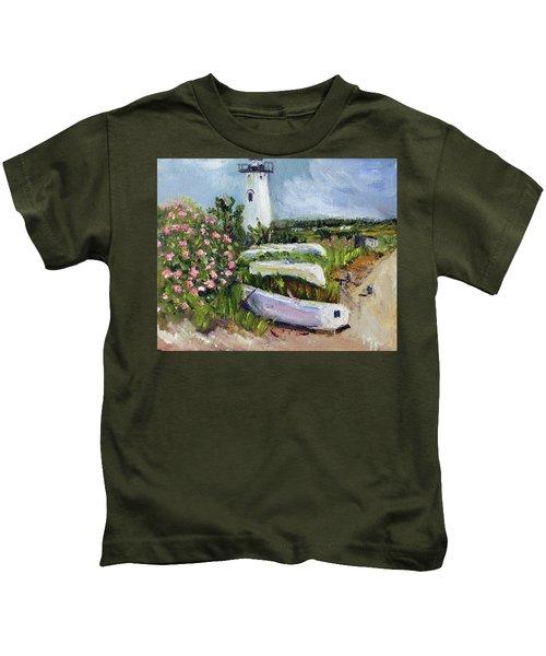 Edgartown Light And Her Entourage Kids T-Shirt