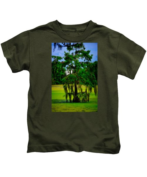 Egret Tree Kids T-Shirt