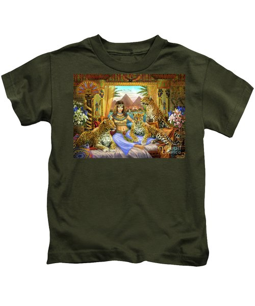 Egyptian Queen With Leopard Kids T-Shirt