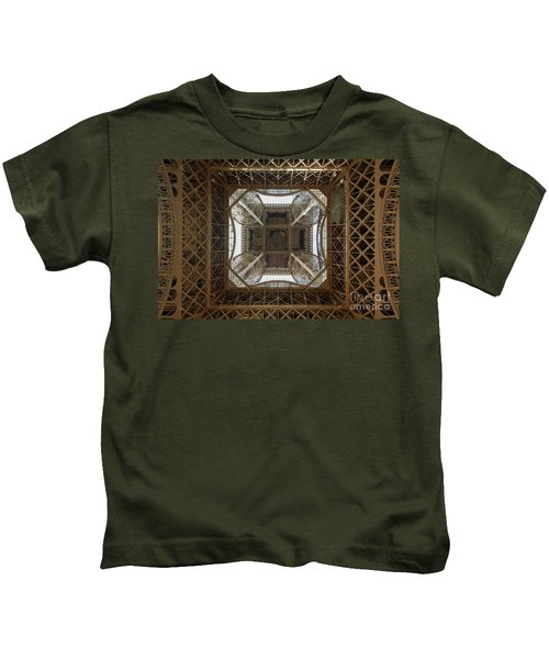 Eiffel Tower Abstract Kids T-Shirt