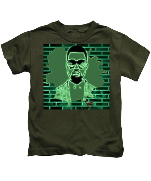 Electric Kanye West Graphic Kids T-Shirt by Dan Sproul