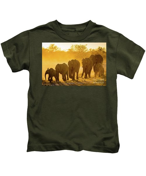 Elephant Sunset Kids T-Shirt