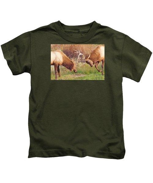 Elk Tussle Too Kids T-Shirt