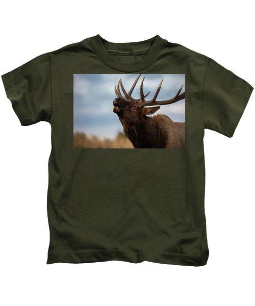 Elk's Screem Kids T-Shirt by Edgars Erglis