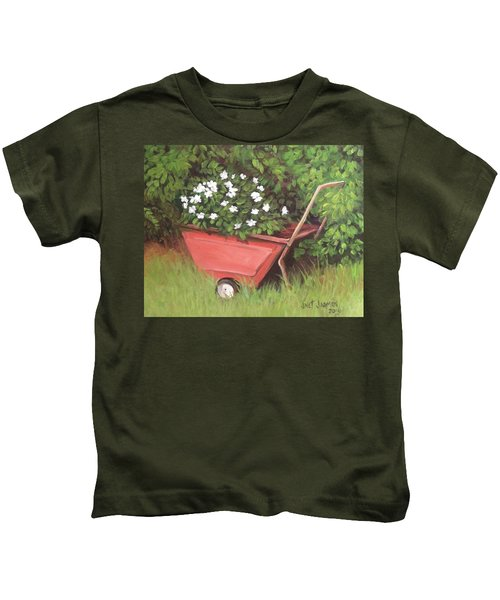 Eloise's Garden Cart Kids T-Shirt