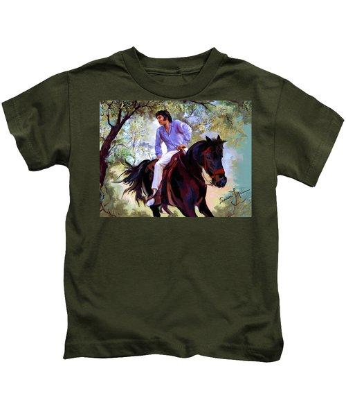 Elvis Presley Art 12 Kids T-Shirt