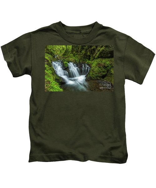 Emeral Falls Waterscape Art By Kaylyn Franks Kids T-Shirt