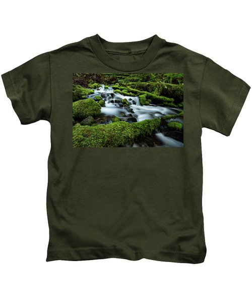 Emerald Flow Kids T-Shirt