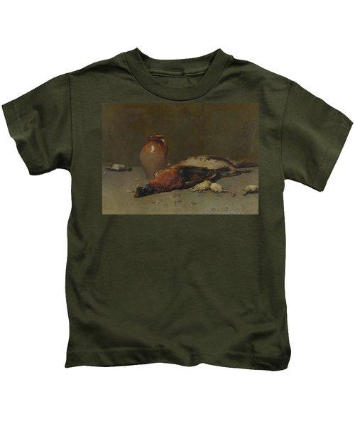 Emil Carlsen 1853 - 1932 Pheasants And Larks 1898 Kids T-Shirt
